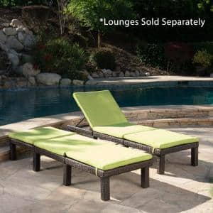 Caesar Green Outdoor Chaise Lounge Cushion (2-Pack)