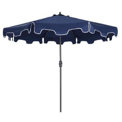 9 ft. Navy Blue Outdoor Flap Crank Market Patio Umbrella Cover with Flap