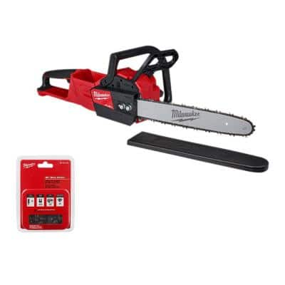 M18 FUEL 16 in. 18-Volt Lithium-Ion Brushless Cordless Chainsaw (Tool-Only) with Replacement 16 in. Chainsaw Chain