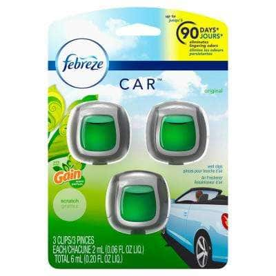 0.06 oz. Original Scent Car Air Freshener Vent Clips with Gain Scent (3-Count)
