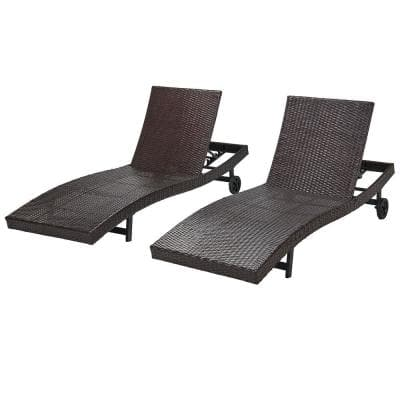 Dark Brown Outdoor Chaise Lounges, Chaise Lounge Patio Chairs