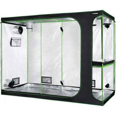 2-in-1 9 ft. x 4 ft. Mylar Reflective Grow Tent for Indoor Hydroponic Growing System