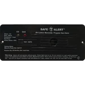 35 Series 12-Volt Safe-T-Alert Flush Mount RV Dual Carbon Monoxide/Propane Alarm in Black
