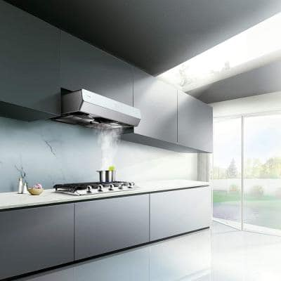 Pixie Air Slim Line 30 in. Convertible Under the Cabinet Range Hood in Off-White with Capture-Shield Technology