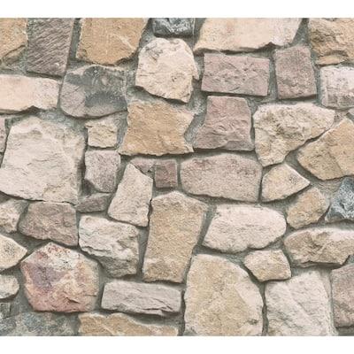 Peelable Morris Neutral Natural Stone Wallpaper