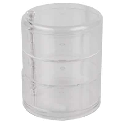 3-Tier Swivel Shatter-Resistant Plastic Cosmetic Organizer in Clear