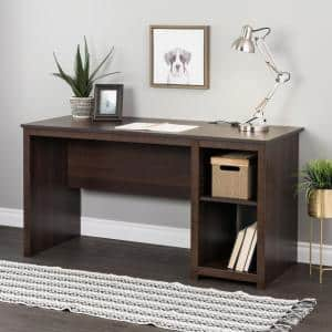 Sonoma 56 in. Rectangular Espresso Computer Desk with Adjustable Shelf