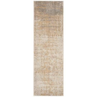 Adirondack Cream/Gold 3 ft. x 12 ft. Runner Rug