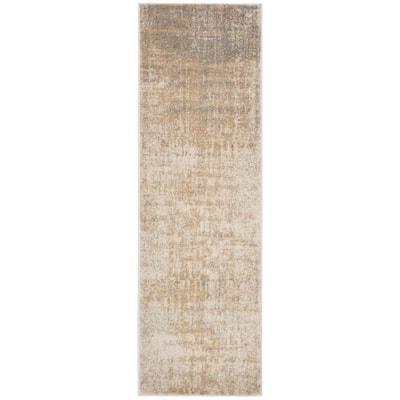 Adirondack Cream/Gold 3 ft. x 14 ft. Runner Rug