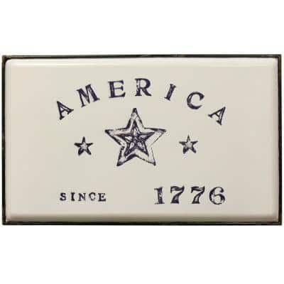 Declare Independence Multicolored Metal Work