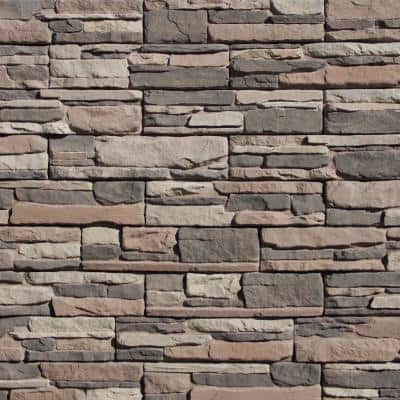 Easy Stack 5 in x 20 in. Clover Dale No Mortar Concrete Ledge Stone Flat Panel 100 sq. ft. Crated