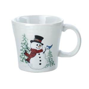 15 oz. White Ceramic Snowman Tapered Mug