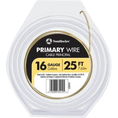 25 ft. 16 Yellow Stranded CU GPT Primary Auto Wire