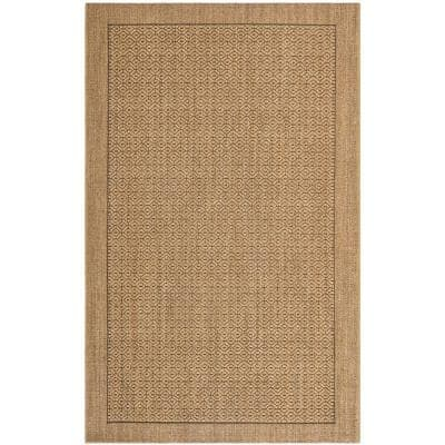 Palm Beach Natural 8 ft. x 11 ft. Speckled Border Area Rug