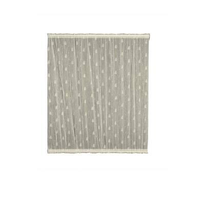 Pineapple Ecru Polyester Light Filtering Curtain Door Panel - 45 in. W x 36 in. L