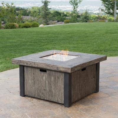 Taos 42 in. W x 21.5 in. Square Magnesia Propane Fire Pit Table