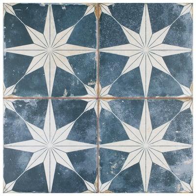 Kings Star Sky Encaustic 17-5/8 in. x 17-5/8 in. Ceramic Floor and Wall Tile (11.02 sq. ft. /Case)