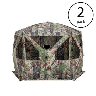 Pentagon Bloodtrail Backwoods Camo Large Ground Hunting Blind (2-Pack)