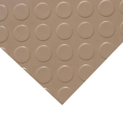 """Coin-Grip Metallic"" 4 ft. x 15 ft. Beige Commercial PVC Flooring"