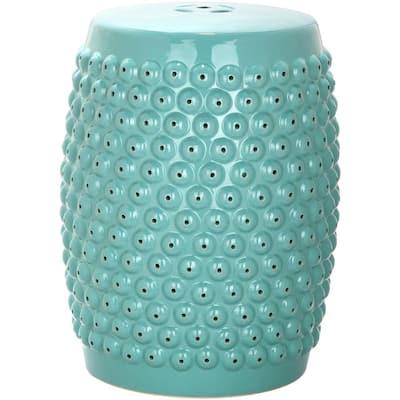 Stella Nail Aqua Head Ceramic Garden Stool