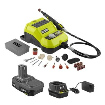 ONE+ 18V Lithium-Ion Cordless Rotary Tool Kit with 1.5 Ah Battery and 18V Charger