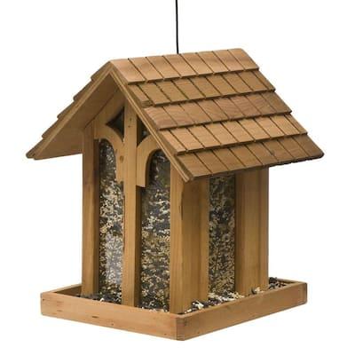 Mountain Chapel Wood Bird Feeder - 3.5 lb. Capacity
