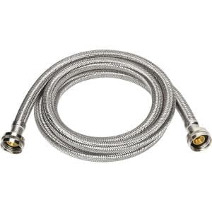 3/4 in. x 3/4 in. x 96 in. Stainless Steel Washing Machine Hose