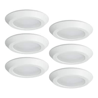 6 in. 2700K-5000K Tunable Smart Integrated LED Recessed Ceiling Mount Light Trim (6-Pack)