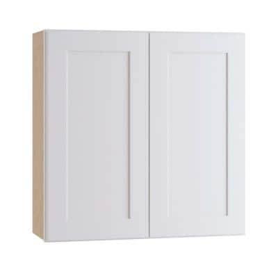 Newport Assembled 27 x 30 x 12 in. Plywood Shaker Wall Kitchen Cabinet Soft Close in Painted Pacific White
