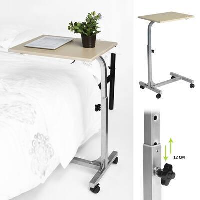 Computer Desk Laptop Ivory Width 18.9 in. Table Adjustable