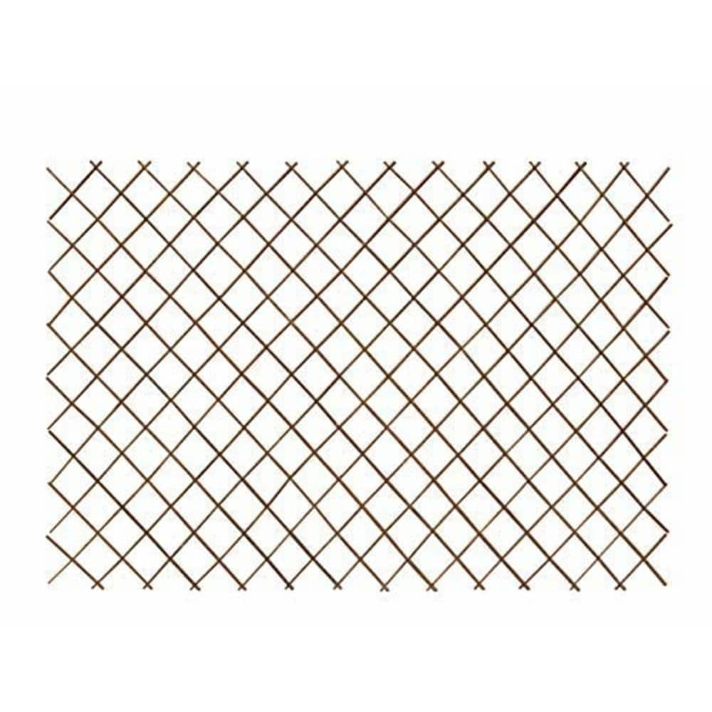 Mgp 48 In H X 72 In L Peeled Willow Expandable Lattice Fence Cwsf 48 The Home Depot
