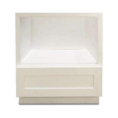 White Plywood Shaker Stock Ready to Assemble Microwave Base Kitchen Cabinet 30 in. W x 24 in. D x 34.5 in. H