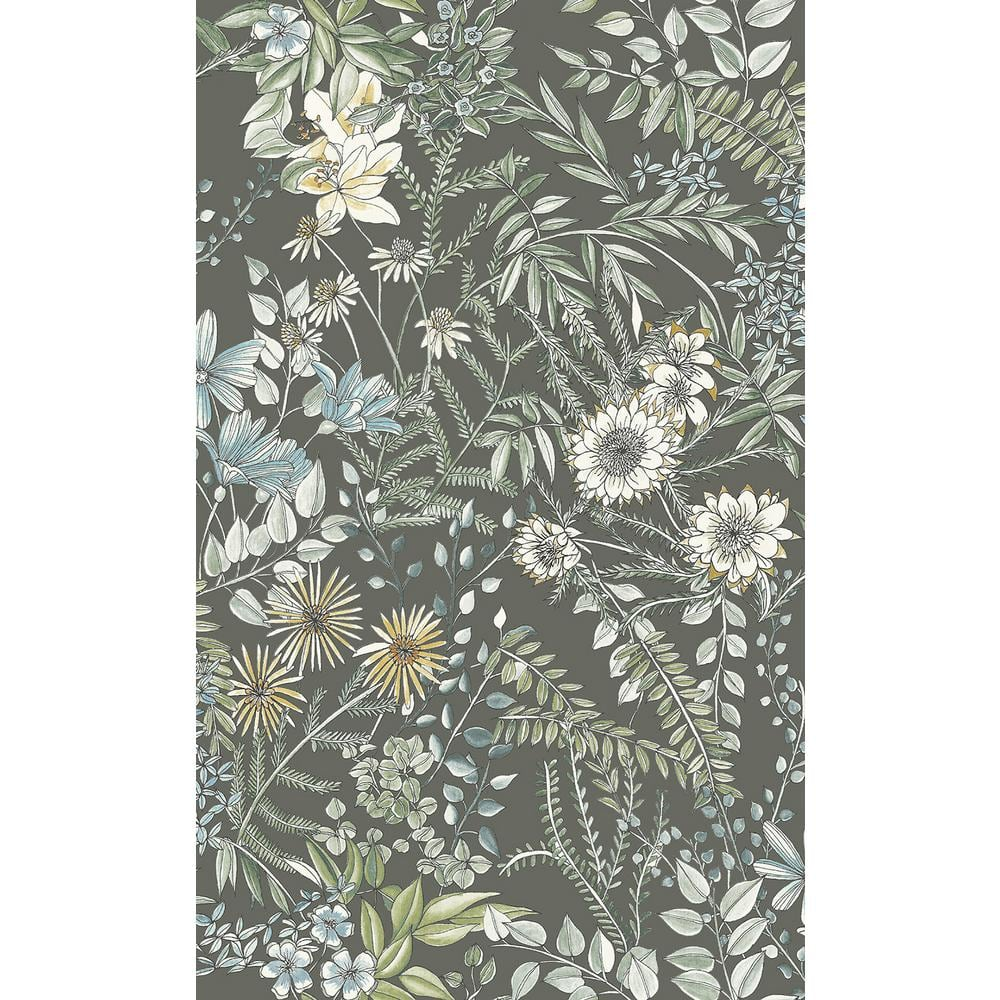 A Street Prints Full Bloom Taupe Floral Paper Strippable Roll Covers 56 4 Sq Ft 2821 12905 The Home Depot