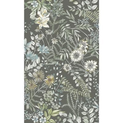 Full Bloom Taupe Floral Paper Strippable Roll (Covers 56.4 sq. ft.)