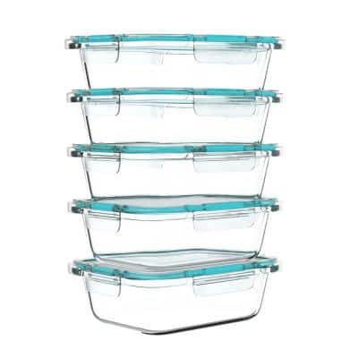 10-Piece Glass Food Storage Containers with Snap Shut Lids