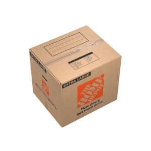 24 in. L x 20 in. W x 21 in. D Extra-Large Moving Box with Handles