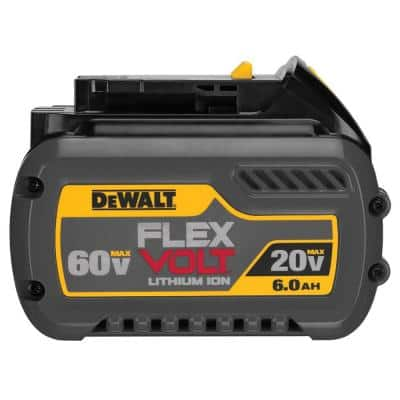 FLEXVOLT 20-Volt/60-Volt MAX Lithium-Ion 6.0Ah Battery Pack