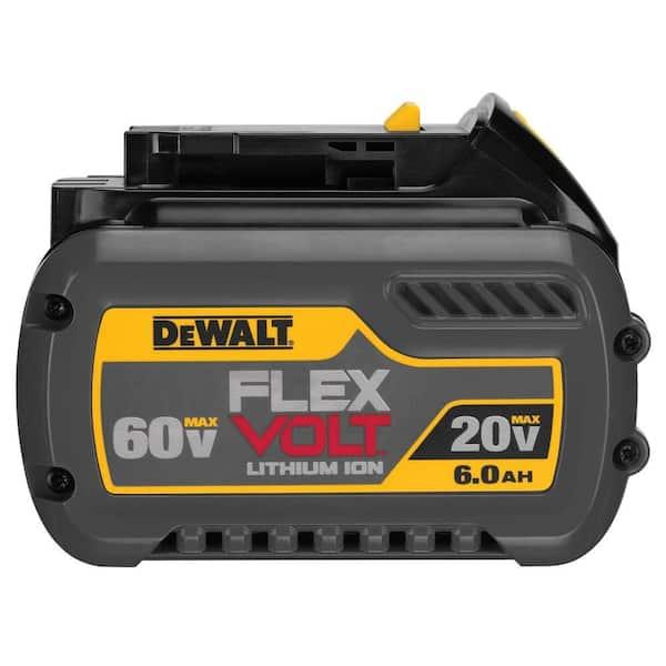 Dewalt Flexvolt 20 Volt 60 Volt Max Lithium Ion 6 0ah Battery Pack Dcb606 The Home Depot