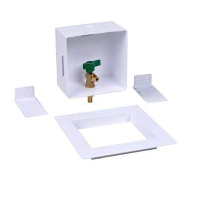 1/2 in. Standard PEX Brass Compression Ice Maker Outlet Box