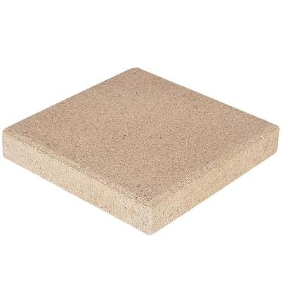 12 in. x 12 in. x 1.57 in. San Diego Tan Square Concrete Step Stone (168-Pieces/168 sq. ft./Pallet)