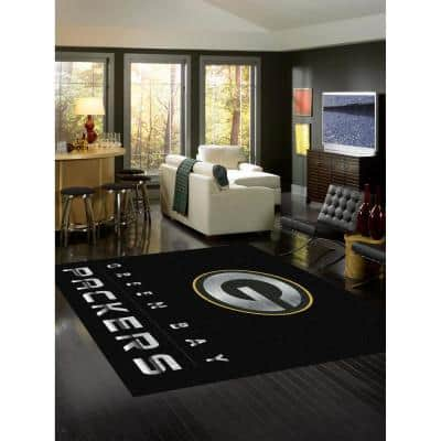GREEN BAY PACKERS 6 ft. x 8 ft. CHROME RUG