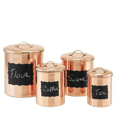 Decor Copper Chalkboard Canister Set (4-Piece)