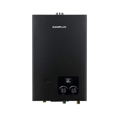 Camplux 10L 2.64 GPM Residential High Capacity Color Screen Liquid Propane Gas Tankless Water Heater, Black