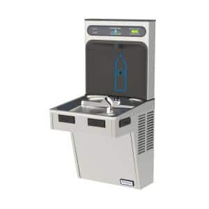 HAC Series HydroBoost Bottle Filling Station Refrigerated Drinking Fountain in Platinum Vinyl