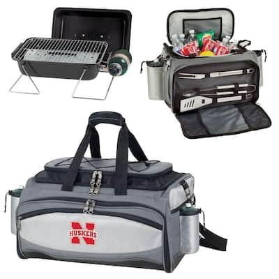 Nebraska Cornhuskers - Vulcan Portable Propane Grill and Cooler Tote by Digital Logo