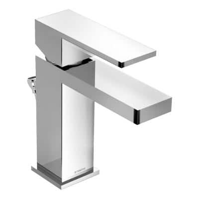 Duro Single Hole Single-Handle Bathroom Faucet with Drain Assembly in Chrome