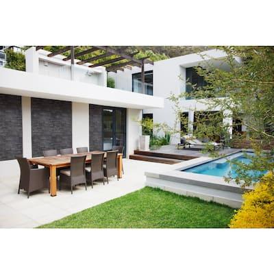 Premium Black Splitface Ledger Panel 6 in. x 24 in. Natural Slate Wall Tile (8 sq. ft./Case)