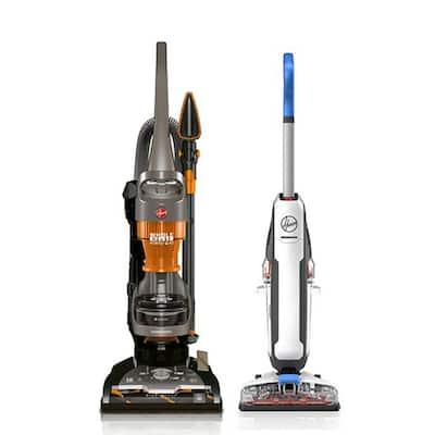 PowerDash Corded Hard Floor Cleaner and WindTunnel 2 Rewind Upright Vacuum Cleaner Bundle