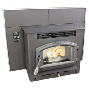 44.25 in. 2000 sq. ft. Multi-Fuel Fireplace Insert
