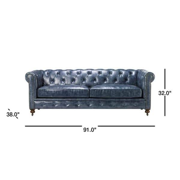 Home Decorators Collection Gordon Blue, Paint For Leather Furniture Home Depot